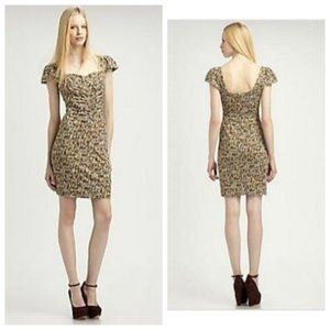 Marc Jacobs Georgie Tweed Print Jersey Dress NWT M